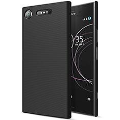 Hard Rigid Plastic Matte Finish Snap On Case for Sony Xperia XZ1 Black