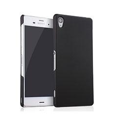 Hard Rigid Plastic Matte Finish Snap On Case for Sony Xperia Z3 Black
