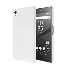 Hard Rigid Plastic Matte Finish Snap On Case for Sony Xperia Z5 White
