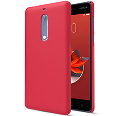 Hard Rigid Plastic Matte Finish Snap On Case M01 for Nokia 5 Red
