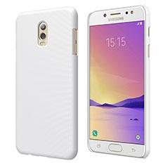Hard Rigid Plastic Matte Finish Snap On Case M04 for Samsung Galaxy J7 Plus White