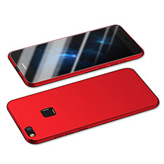 Hard Rigid Plastic Matte Finish Snap On Case M05 for Huawei GR3 (2017) Red