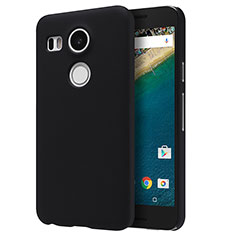 Hard Rigid Plastic Matte Finish Snap On Case P01 for Google Nexus 5X Black