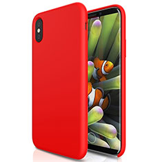 Hard Rigid Plastic Matte Finish Snap On Case S01 for Apple iPhone Xs Max Red