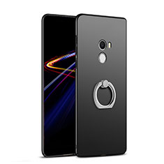 Hard Rigid Plastic Matte Finish Snap On Case with Finger Ring Stand A02 for Xiaomi Mi Mix Black