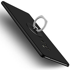 Hard Rigid Plastic Matte Finish Snap On Case with Finger Ring Stand for Xiaomi Mi Mix Black