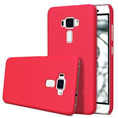 Hard Rigid Plastic Matte Finish Snap On Cover for Asus Zenfone 3 ZE552KL Red