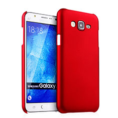 Hard Rigid Plastic Matte Finish Snap On Cover for Samsung Galaxy J5 SM-J500F Red
