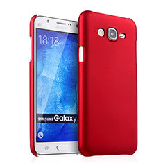 Hard Rigid Plastic Matte Finish Snap On Cover for Samsung Galaxy J7 SM-J700F J700H Red