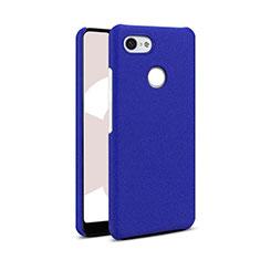 Hard Rigid Plastic Quicksand Cover Case Q01 for Google Pixel 3 Blue