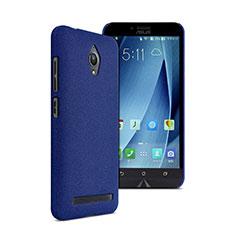 Hard Rigid Plastic Quicksand Cover for Asus Zenfone Go ZC500TG Blue