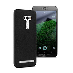 Hard Rigid Plastic Quicksand Cover for Asus Zenfone Selfie ZD551KL Black