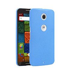 Hard Rigid Plastic Quicksand Cover for Google Nexus 6 Blue