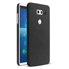 Hard Rigid Plastic Quicksand Cover for LG V30 Black