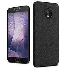 Hard Rigid Plastic Quicksand Cover for Motorola Moto E4 Plus Black