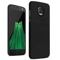 Hard Rigid Plastic Quicksand Cover for Motorola Moto Z2 Force Black