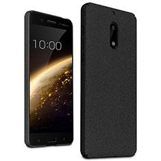 Hard Rigid Plastic Quicksand Cover for Nokia 6 Black