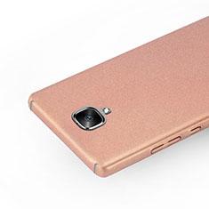 Hard Rigid Plastic Quicksand Cover for OnePlus 3 Rose Gold