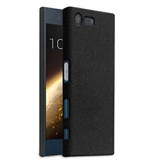 Hard Rigid Plastic Quicksand Cover for Sony Xperia X Compact Black