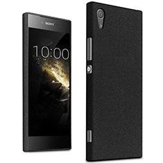 Hard Rigid Plastic Quicksand Cover for Sony Xperia XA1 Black