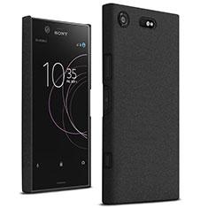 Hard Rigid Plastic Quicksand Cover for Sony Xperia XZ1 Compact Black
