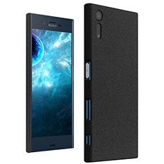 Hard Rigid Plastic Quicksand Cover for Sony Xperia XZs Black