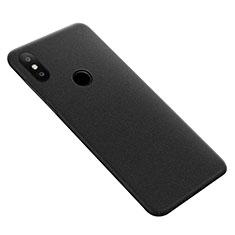 Hard Rigid Plastic Quicksand Cover for Xiaomi Mi Max 3 Black