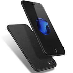 Hard Rigid Plastic Quicksand Cover Q02 for Apple iPhone SE (2020) Black