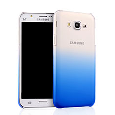Hard Rigid Transparent Gradient Cover for Samsung Galaxy J7 SM-J700F J700H Blue