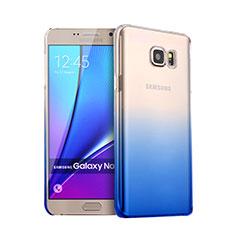 Hard Rigid Transparent Gradient Cover for Samsung Galaxy Note 5 N9200 N920 N920F Blue