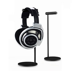 Headphone Display Stand Holder Rack Earphone Headset Hanger Universal Black