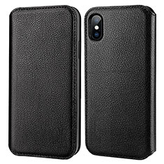 Leather Case Flip Cover for Apple iPhone Xs Max Black