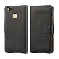 Leather Case Flip Cover for Huawei G9 Lite Black