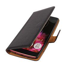 Leather Case Flip Cover for LG G Flex 2 Black