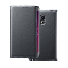 Leather Case Flip Cover for Samsung Galaxy Note Edge SM-N915F Black
