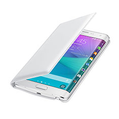 Leather Case Flip Cover for Samsung Galaxy Note Edge SM-N915F White