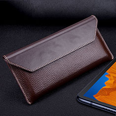 Leather Case Flip Cover T02 Holder for Huawei Mate Xs 5G Brown
