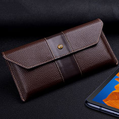 Leather Case Flip Cover T03 Holder for Huawei Mate Xs 5G Brown