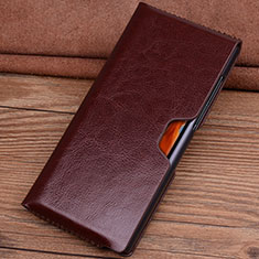 Leather Case Flip Cover T04 Holder for Huawei Mate Xs 5G Brown