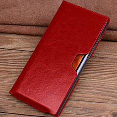 Leather Case Flip Cover T04 Holder for Huawei Mate Xs 5G Red