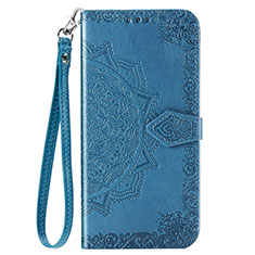 Leather Case Stands Flip Cover C01 Holder for Xiaomi Redmi Note 9 Blue