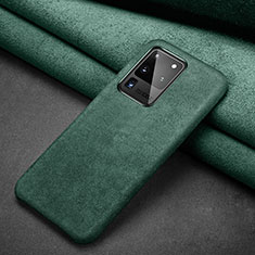 Leather Case Stands Flip Cover C02 Holder for Samsung Galaxy S20 Ultra 5G Green