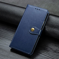 Leather Case Stands Flip Cover D01 Holder for Xiaomi Mi Note 10 Pro Blue