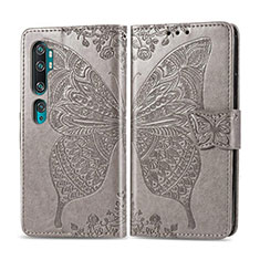 Leather Case Stands Flip Cover D02 Holder for Xiaomi Mi Note 10 Pro Gray