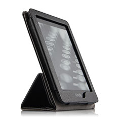 Leather Case Stands Flip Cover for Amazon Kindle Paperwhite 6 inch Black