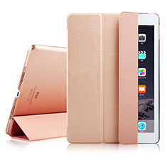 Leather Case Stands Flip Cover for Apple iPad Air 2 Rose Gold