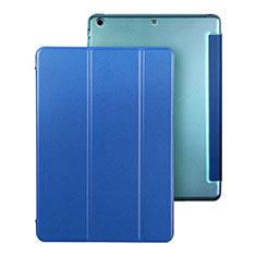 Leather Case Stands Flip Cover for Apple iPad Air Blue