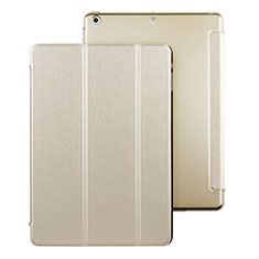 Leather Case Stands Flip Cover for Apple iPad Air Gold