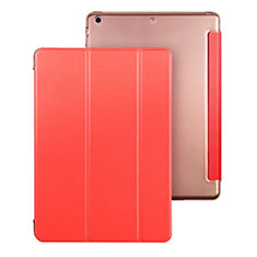 Leather Case Stands Flip Cover for Apple iPad Air Red