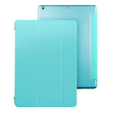 Leather Case Stands Flip Cover for Apple iPad Air Sky Blue